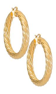 Серьги-кольца milan - BRACHA