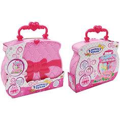 """Игровой набор ABtoys """"В гостях у куклы"""" Домик-сумка с куклой и аксессуарами"""