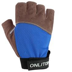 Перчатки спортивные, размер s, цвет синий Onlitop