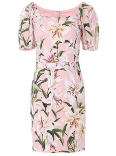 Платье-мини с цветами Dolce & Gabbana