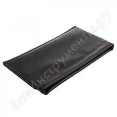 Карман-органайзер кожа перфорированная черный, строчка красная skyway s06402019