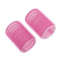 Dewal, Бигуди-липучки, розовые, 24х63 мм