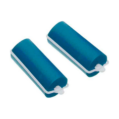 Dewal, Бигуди резиновые, синие, 16x70 мм