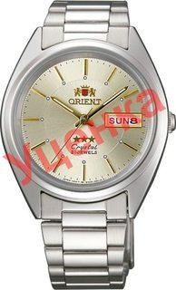 Японские мужские часы в коллекции 3 Stars Crystal 21 Jewels Мужские часы Orient AB00006C-ucenka
