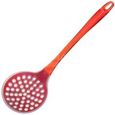 Шумовка Daniks НG03-50R силиконовая с красной пластиковой ручкой