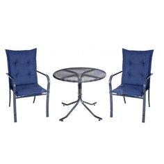 Мебель садовая Ницца мини с935/1/с946/94 (стол, 60х60 см + стул, 2 шт, 62х57.7х96.5 см), бежевые подушки