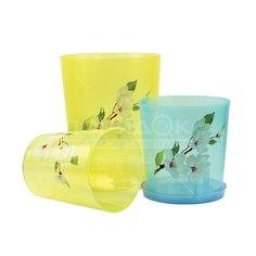 Горшок для цветов пластиковый Альтернатива М1452 Для орхидеи, 1.2 л Alternativa