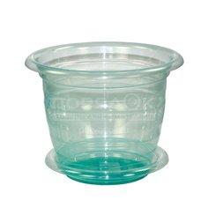 Горшок для цветов пластиковый Альтернатива М1454 Для орхидеи зеленый, 2 л Alternativa