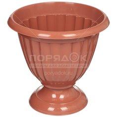 Горшок для цветов пластиковый Альтернатива М1557 Жасмин коричневый, 12 л Alternativa