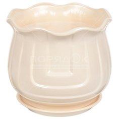 Горшок для цветов керамический Лира №2, 19.5 см, с подставкой