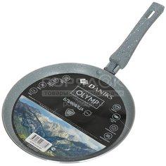 Блинница с мраморным покрытием Daniks JD-PM-24-DB-IND, 24 см, серая