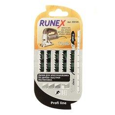 Пилка для электролобзика Runex T144D для дерева, фанеры 5 шт