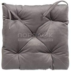 Чехол на стул Классика с завязками 360101, 40х40 см, серый