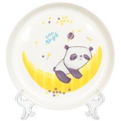 Тарелка детская пластиковая Little Angel Panda LA1103-НК, 450 мл