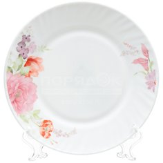 Тарелка обеденная стеклокерамическая, 230 мм, Роуз HP90 Daniks
