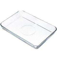 Форма для выпечки жаропрочная стеклянная Borcam 59554 Гриль прямоугольная, 27х40 см