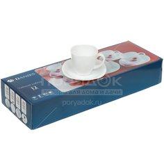 Сервиз чайный из стеклокерамики, 12 предметов, Квадро FKFB-210 Daniks