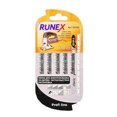 Пилка для электролобзика Runex T101D для дерева, пластика, ДСП 5 шт