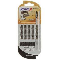 Пилка для электролобзика Runex T301DL для дерева, ДСП, пластмасса 5 шт