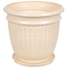 Горшок для цветов керамический Виктория №4, 15.8 см, с подставкой