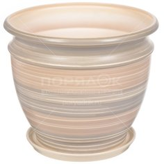 Горшок для цветов керамический Уют №4, 13.1 см, с подставкой