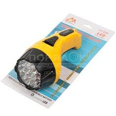 Фонарь SPE17194-6 аккум 15+10 LED, 3Вт, вилка 220в, желтый с черным SPE17194-6 I.K