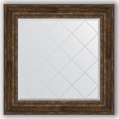 Зеркало 92х92 см состаренное дерево с орнаментом Evoform Exclusive-G BY 4344