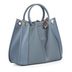 Сумки Голубая сумка из кожи с косметичкой в комплекте Respect