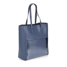 Сумки Синий шоппер из натуральной кожи Respect