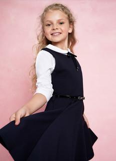 Трикотажное платье для девочек O'stin