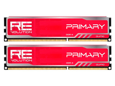 Модуль памяти Qumo ReVolution Primary Red DDR4 DIMM 3000MHz PC24000 CL16 - 8Gb Kit (2x4Gb) Q4Rev-8G2M3000C16PrimR