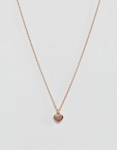 Ожерельецветарозового золота с подвеской-сердцемTed Baker-Золотой