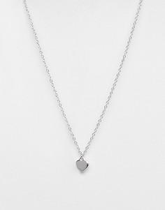 Серебристоеожерелье с подвеской-сердцемTed Baker-Серебряный