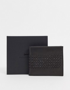 Коричневый кожаныйбумажникс карманом для монет Paul Costelloe