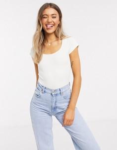 Боди-футболка Pieces-Белый