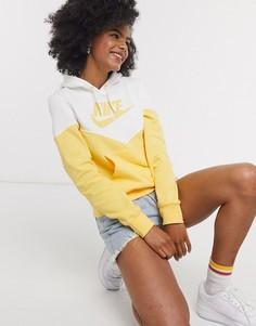 Худи желтого цвета в винтажном стиле Nike-Желтый