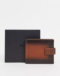 Коричневый кожаный бумажник Paul Costelloe