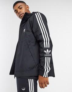 Черная ветровка adidas Originals-Черный