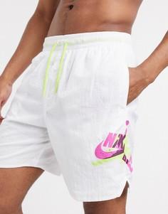 Белые шорты для плавания с логотипом Nike Jordan Jumpman-Белый