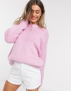 Розовый джемпер крупной вязки ASOS DESIGN