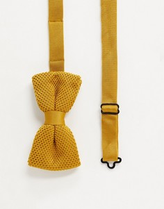 Трикотажный галстук-бабочка горчичного цвета Twisted Tailor-Оранжевый