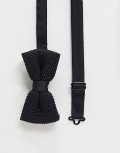 Черный трикотажный галстук-бабочка Twisted Tailor