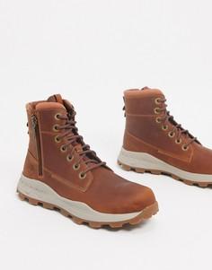 Светло-коричневые ботинки с молниямиTimberland-Светло-коричневый