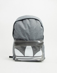 Серый рюкзакс логотипом-трилистником на кармане adidas Originals-Черный