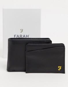 Подарочный набор с бумажником и кредитницей Farah-Черный