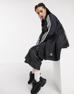 Черная ветровка с тремя полосками adidas Originals Bellista-Черный