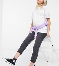 Белая футболка Topshop Maternity-Черный