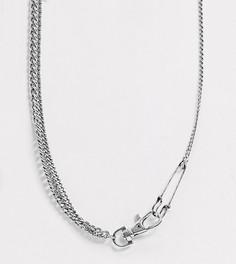Серебристое ярусное ожерелье Reclaimed Vintage inspired-Серебряный