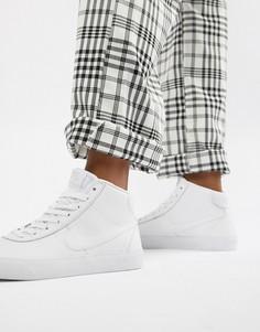 Белые высокие кроссовки Nike SB-Белый