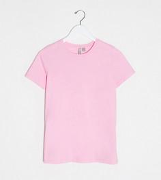 Розовая футболка из органического хлопка с круглым вырезом ASOS DESIGN Maternity-Розовый